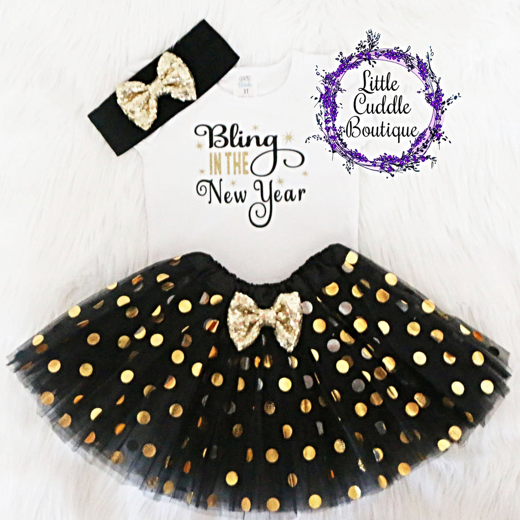 Bling In The New Year Toddler Tutu Outfit