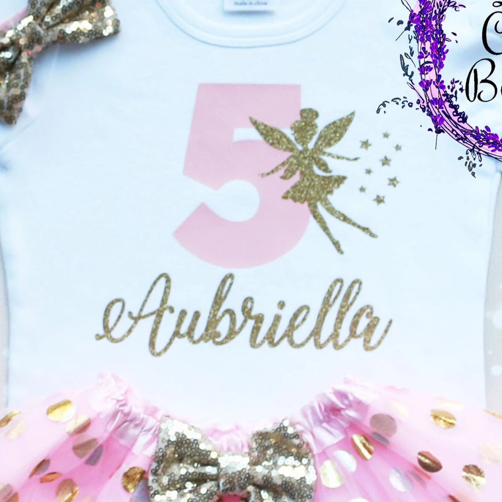 Personalized Fairy Birthday Girl's Tutu Outfit
