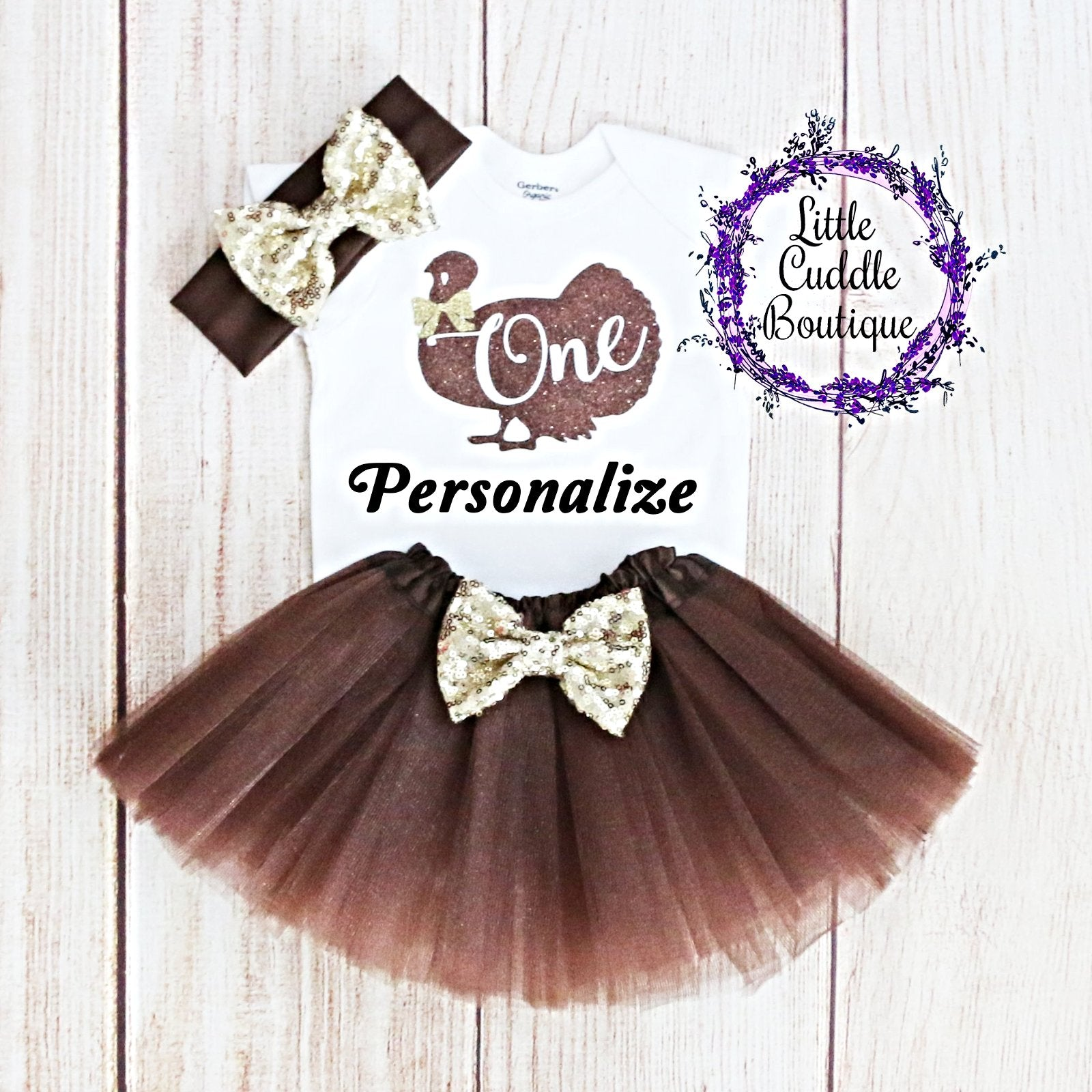 a29100d6b Personalized Thanksgiving First Birthday Tutu Outfit-Little Cuddle ...