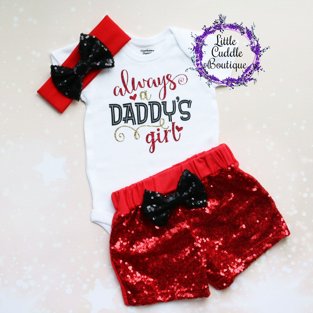 Always A Daddy's Girl Shorts Outfit
