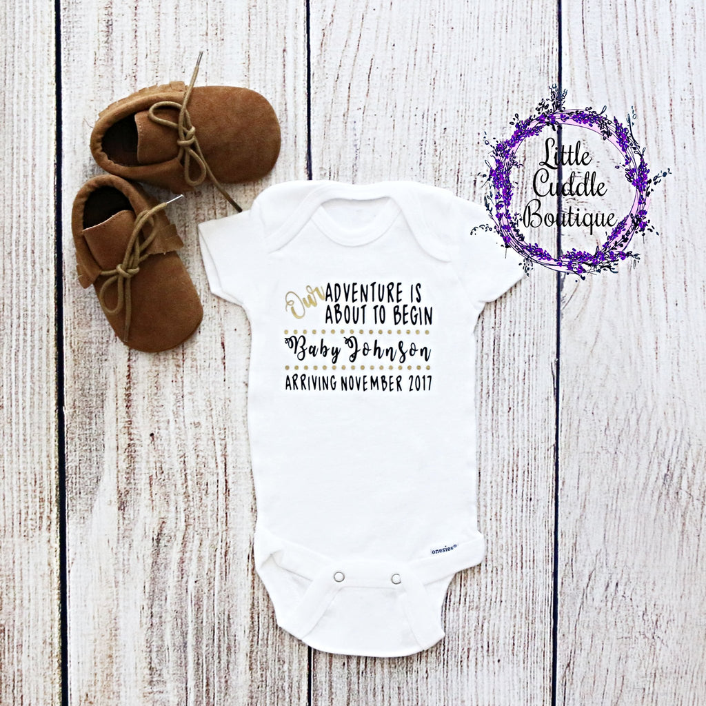 Personalized Baby Announcement One Piece
