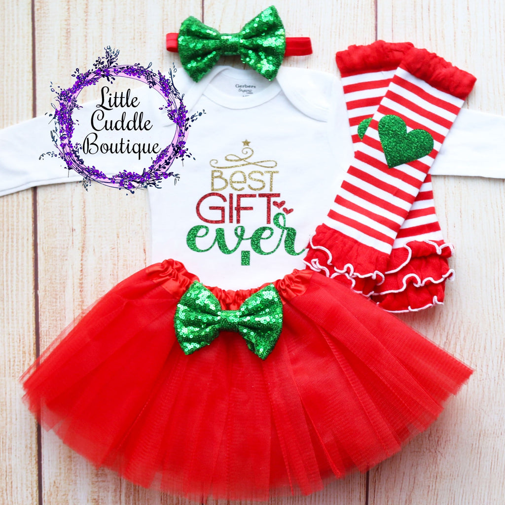 Best Gift Ever Holiday Baby Tutu Outfit