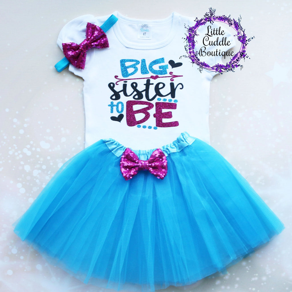 Big Sister To Be Tutu Outfit