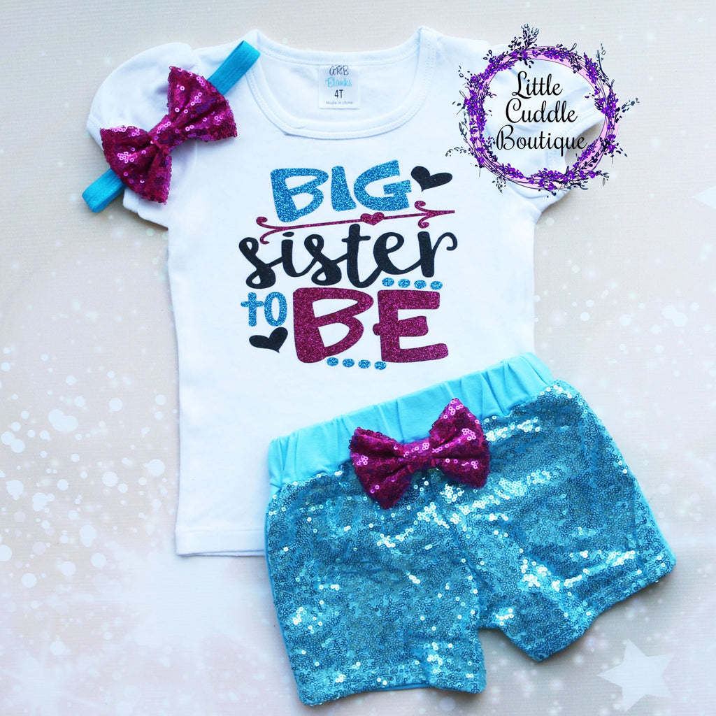 Big Sister To Be Shorts Outfit