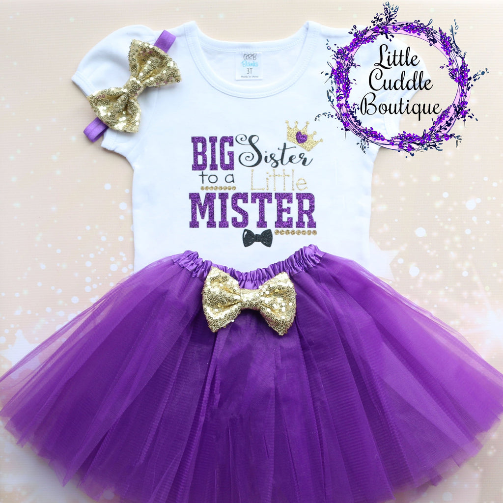 Big Sister To A Little Mister Tutu Outfit