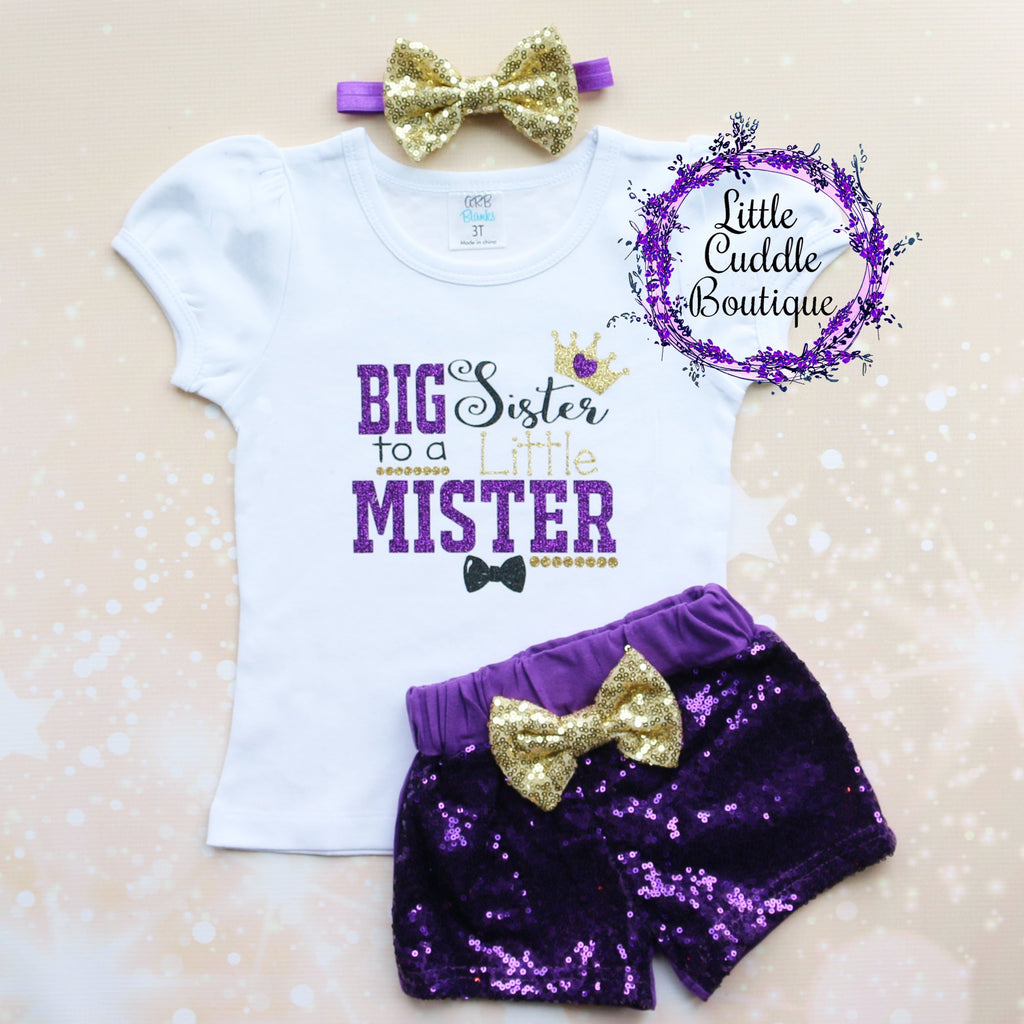 Big Sister To A Little Mister Shorts Outfit
