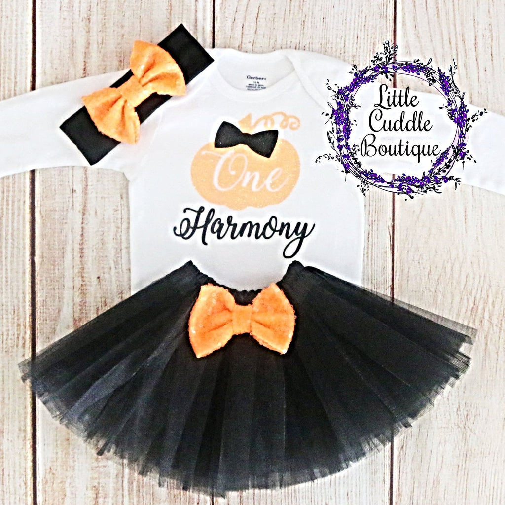 Personalized Pumpkin Birthday Tutu Outfit