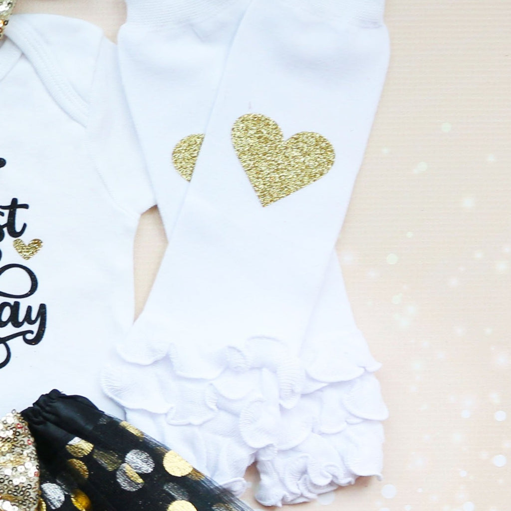 Black And Gold First Birthday Tutu Outfit