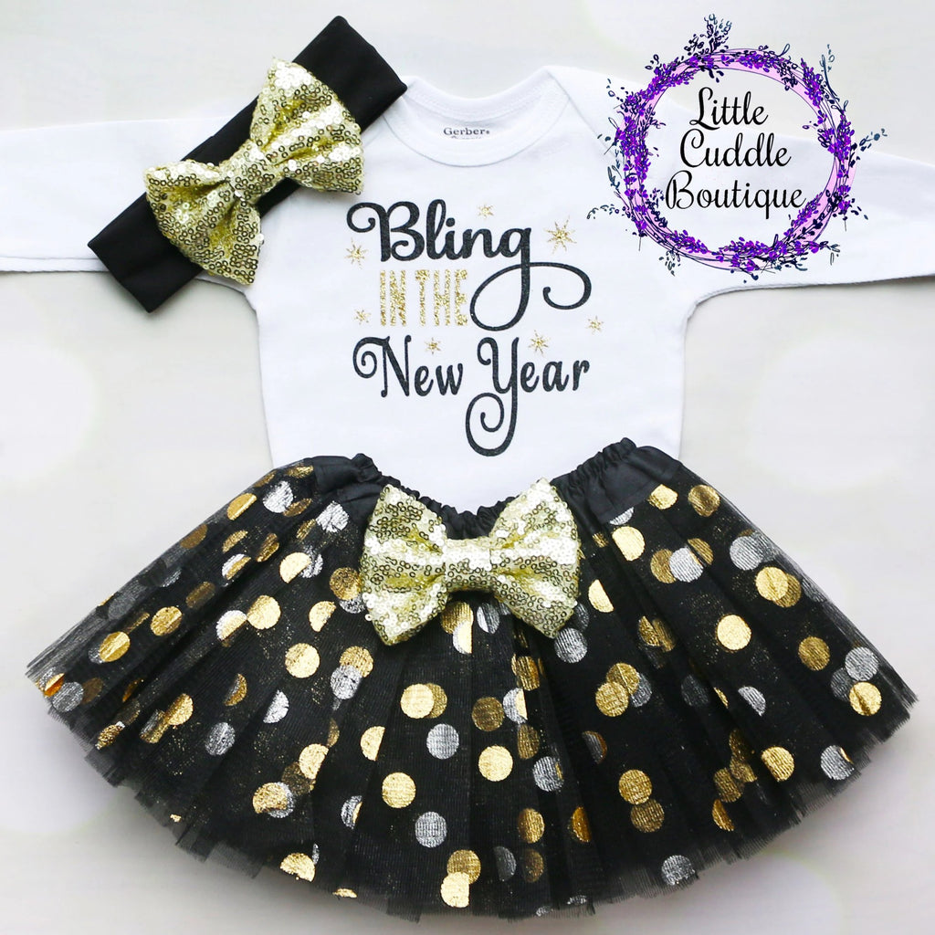 New Year's Baby Tutu Outfit