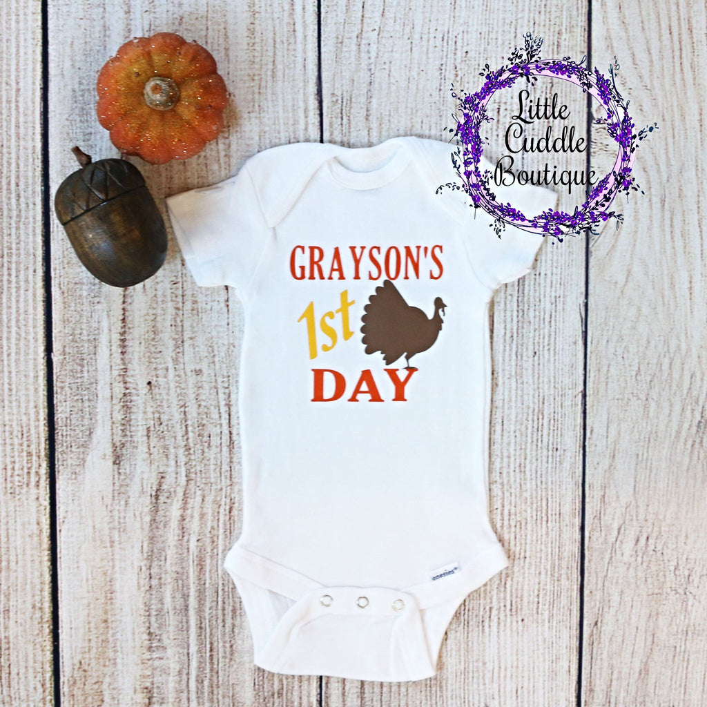 Personalized First Thanksgiving One Piece