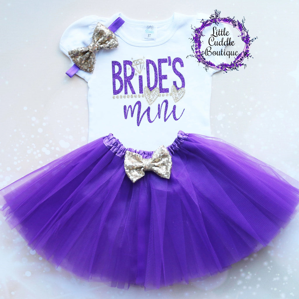 Bride's Mini Girl Tutu Outfit