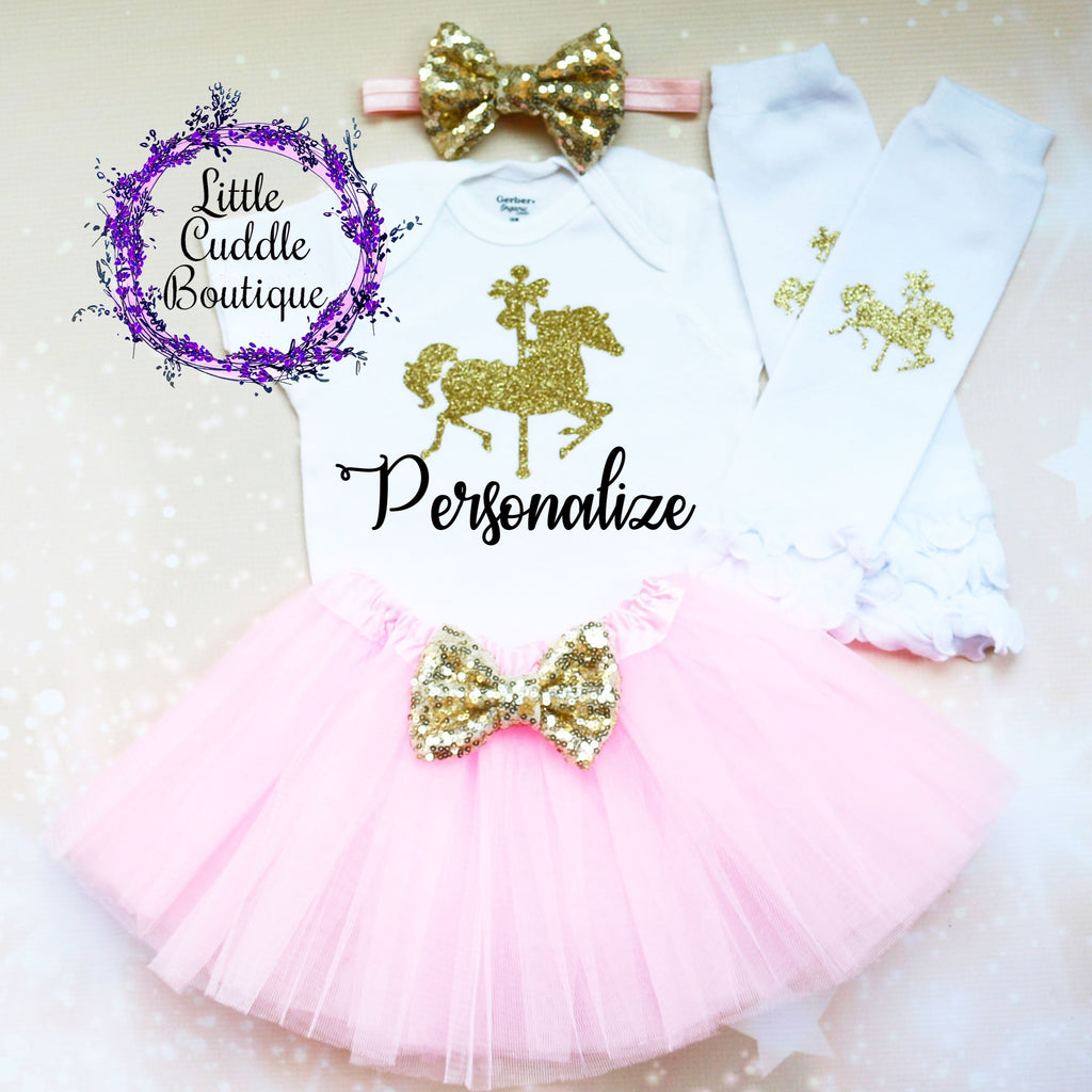 Personalized Circus First Birthday Tutu Outfit
