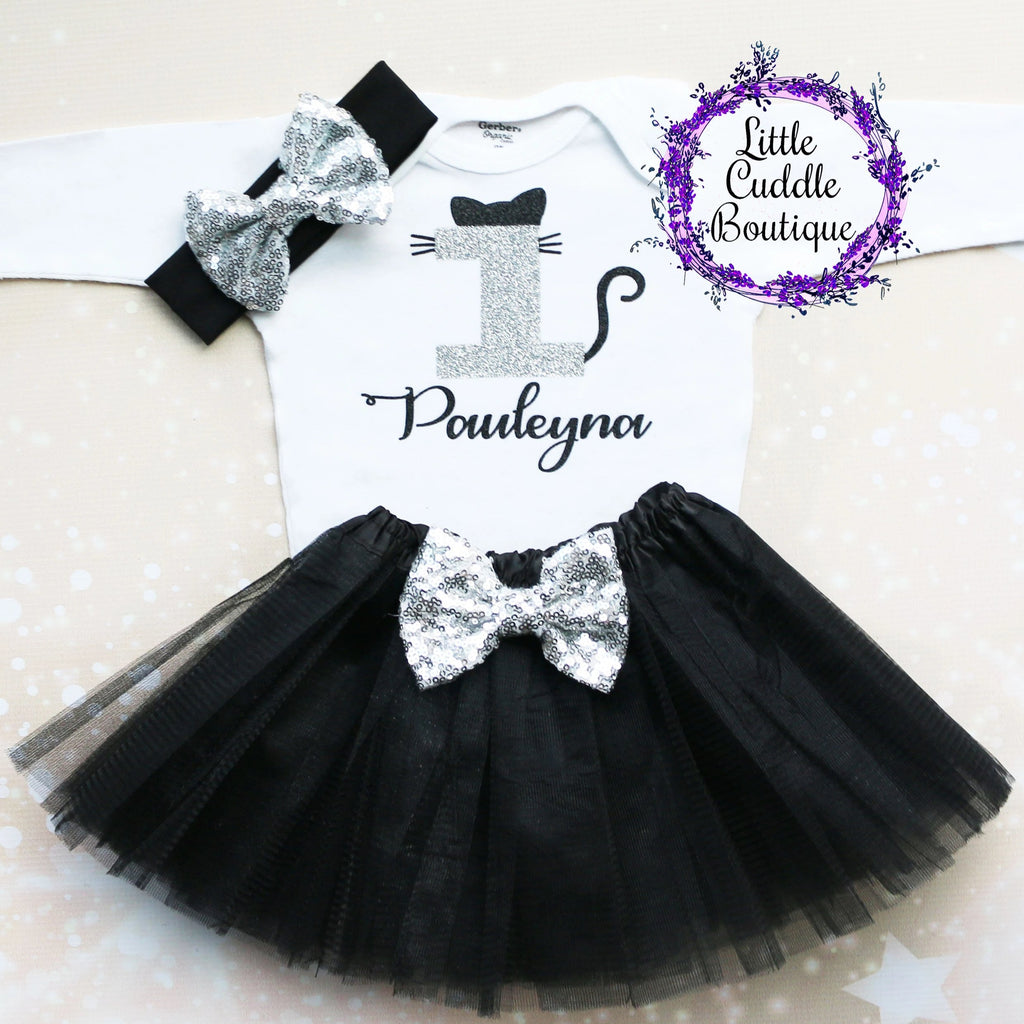 Personalized Cat Birthday Tutu Outfit