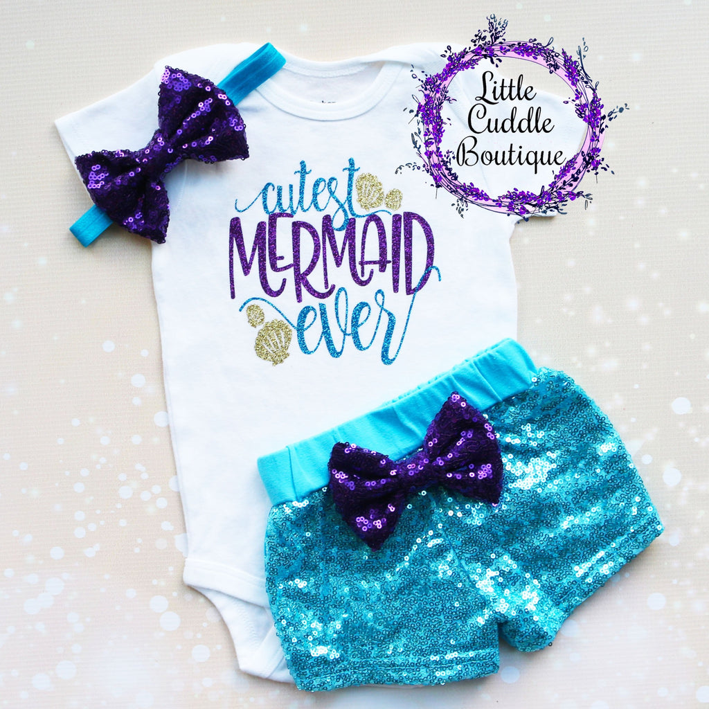 Cutest Mermaid Ever Shorts Outfit