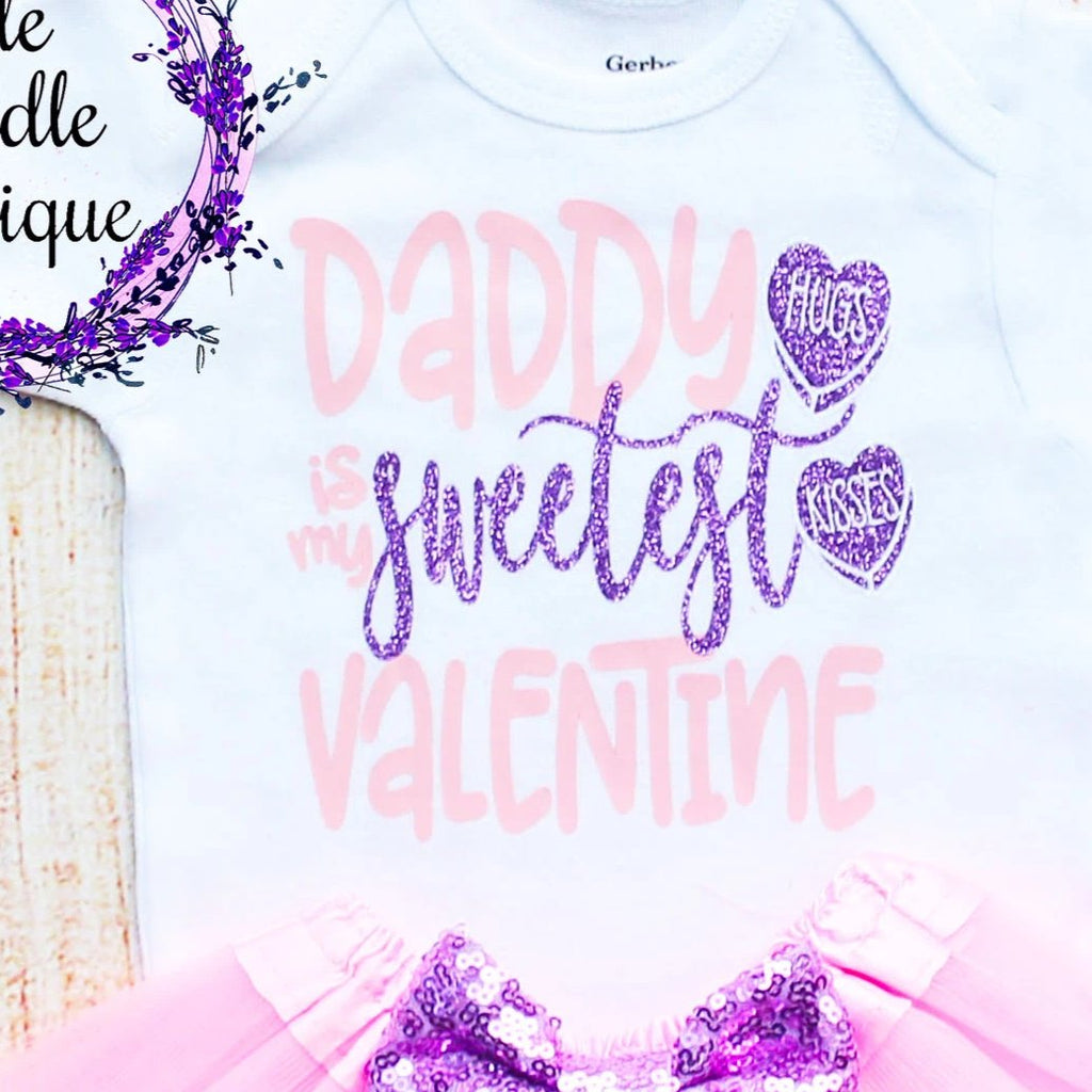 Daddy Is My Sweetest Valentine Tutu Outfit