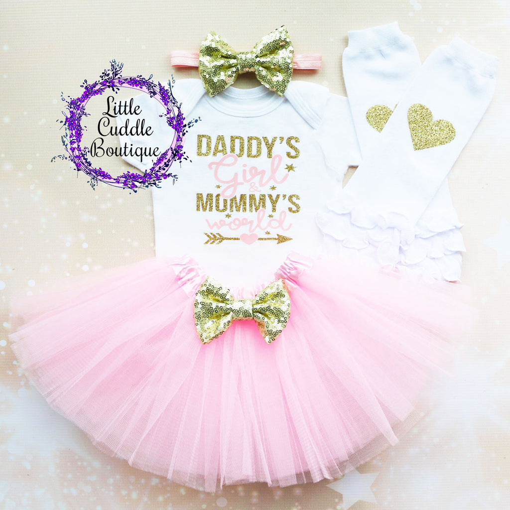 Daddy's Girl & Mommy's World Baby Girl Tutu Outfit