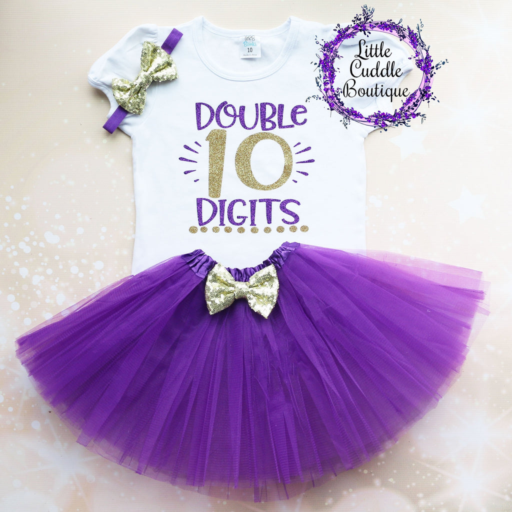 Double Digits 10th Birthday Tutu Outfit