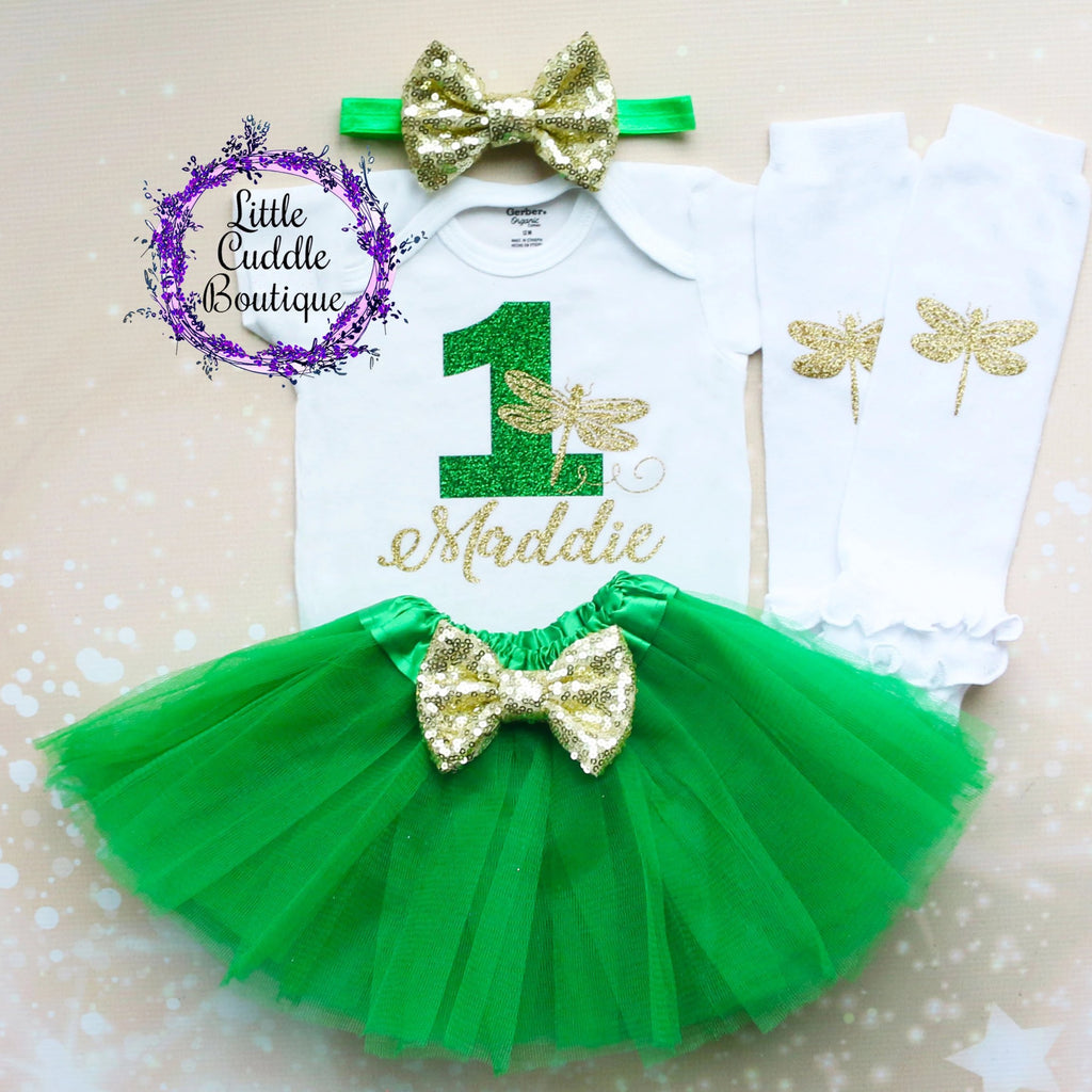 Personalized Dragonfly First Birthday Tutu Outfit