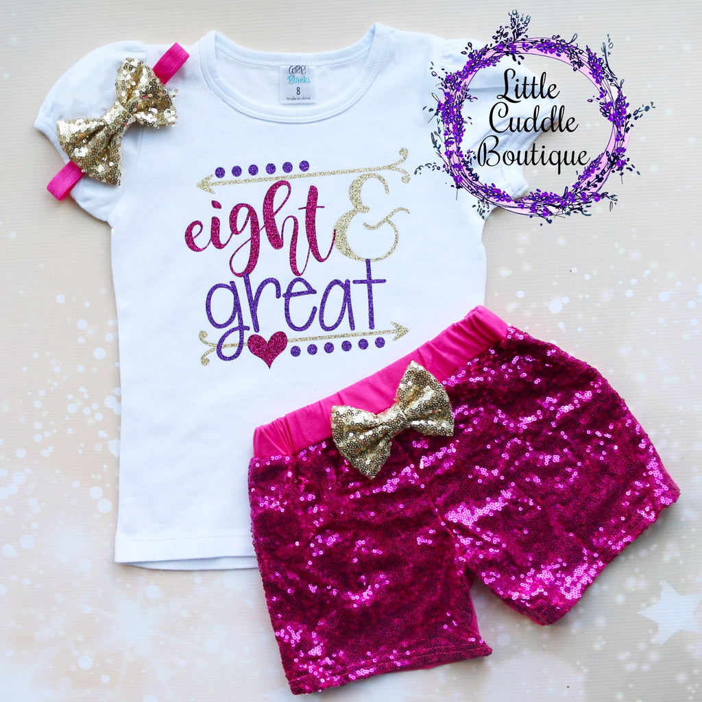 Eight & Great 8th Birthday Shorts Outfit