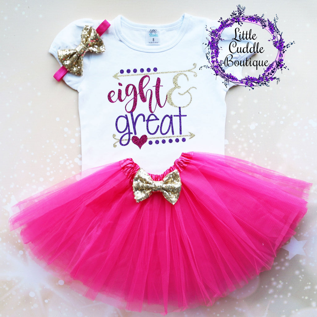 Eight & Great 8th Birthday Tutu Outfit