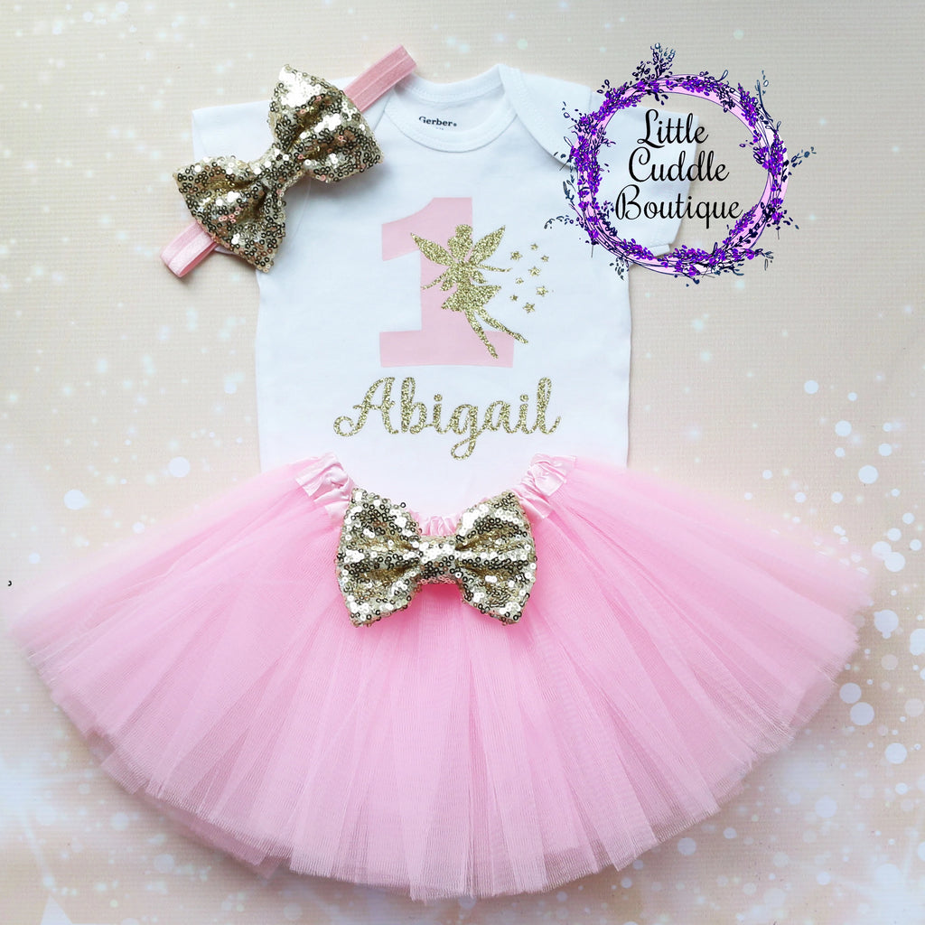 Personalized Fairy First Birthday Tutu Outfit