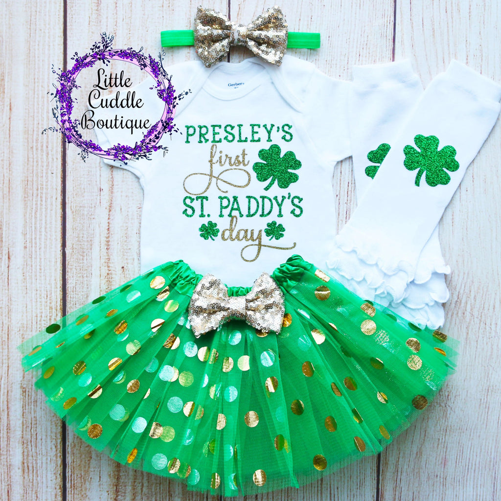 Personalized First St. Patrick's Day Tutu Outfit