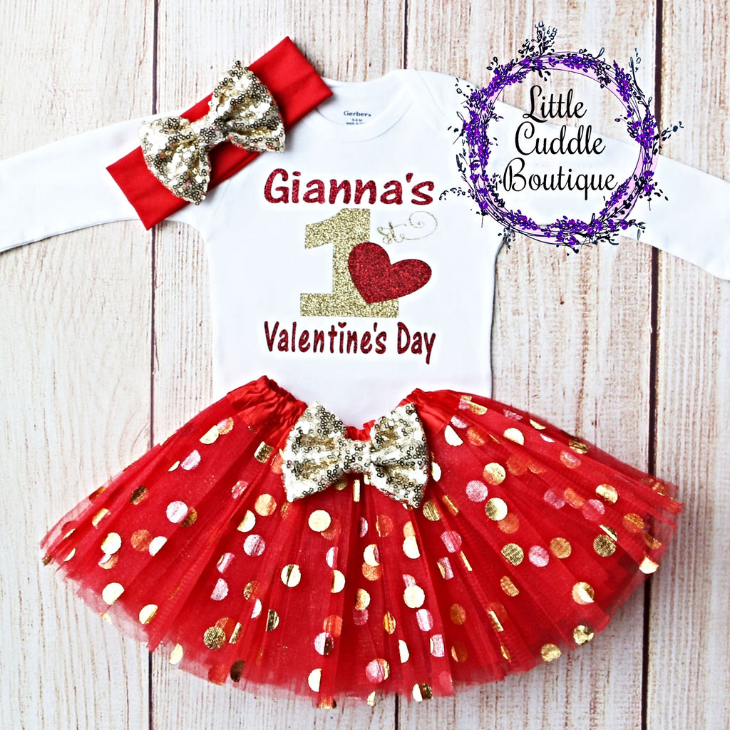 Personalized First Valentine's Tutu Outfit