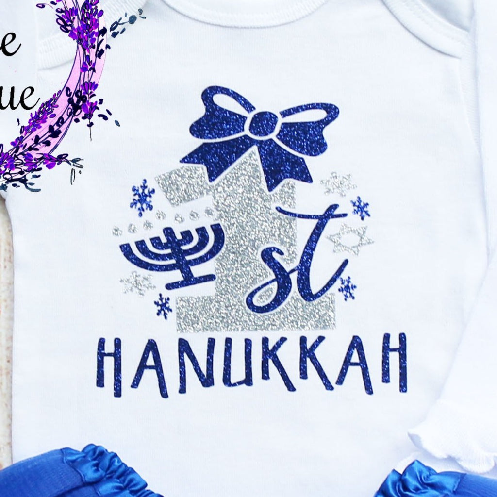 First Hanukkah Baby Tutu Outfit