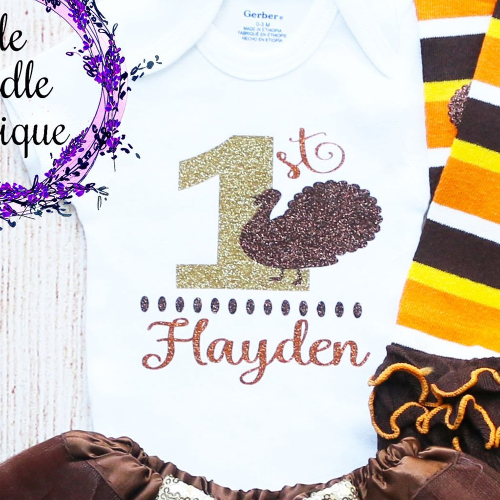Personalized 1st Thanksgiving Baby Tutu Outfit