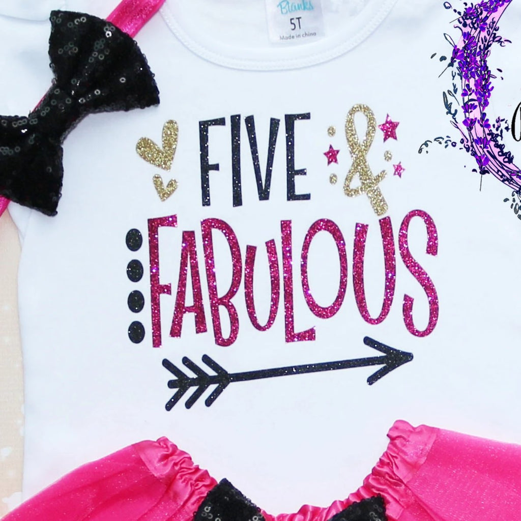 Five & Fabulous Birthday Tutu Outfit