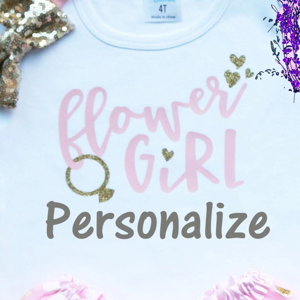 Personalized Flower Girl Tutu Outfit