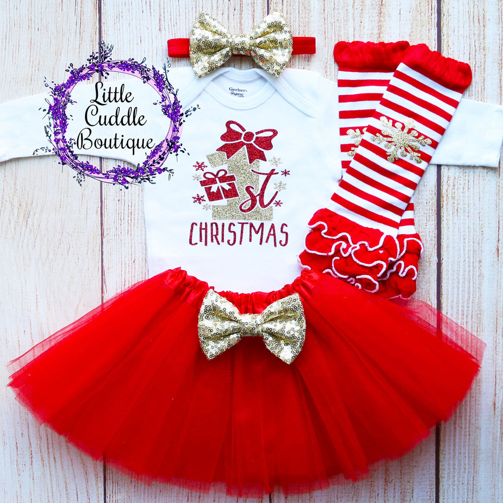 First Christmas Baby Tutu Outfit