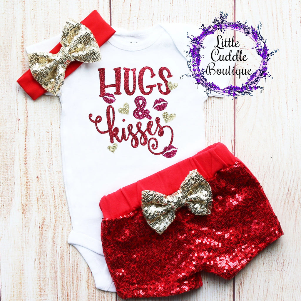 Hugs & Kisses Shorts Outfit