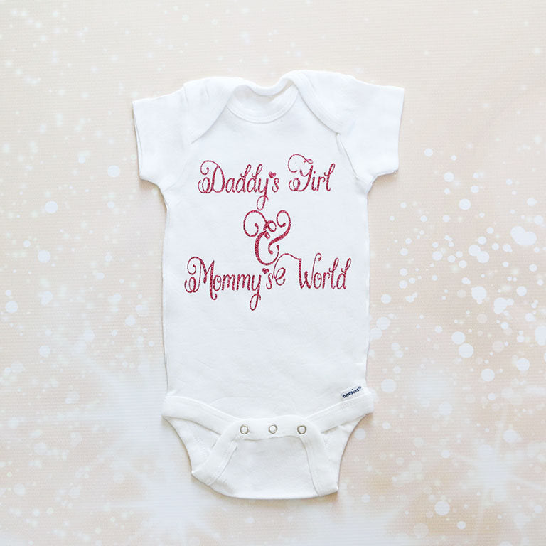 Daddy's Girl & Mommy's World Baby Tutu Outfit