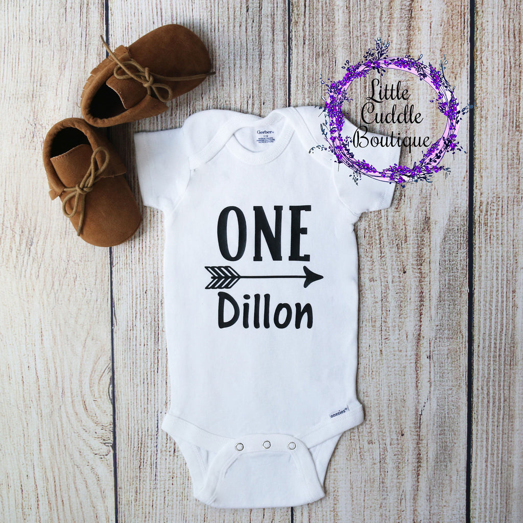 Personalized Birthday Arrow One Piece