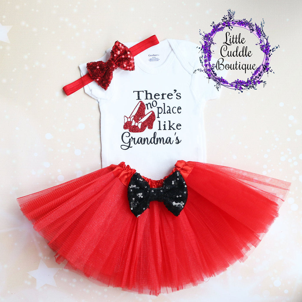 There's No Place Like Grandma's Tutu Outfit