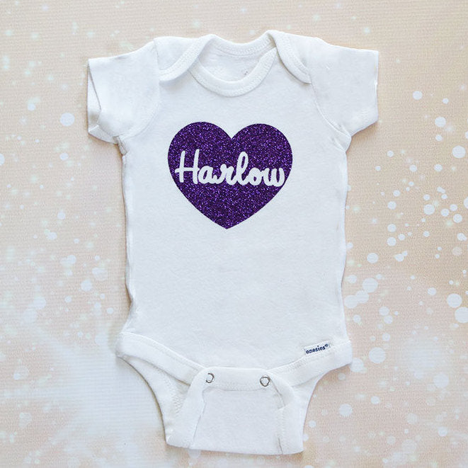 Personalized Heart Baby Tutu Outfit