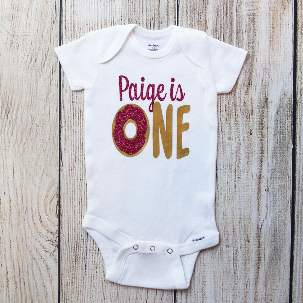 Personalized Donut First Birthday Shorts Outfit