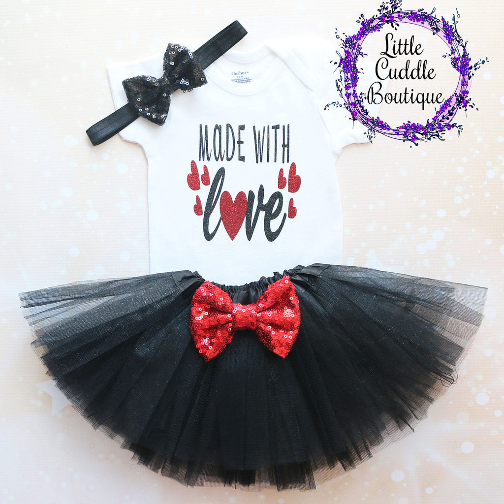 Made With Love Baby Tutu Outfit