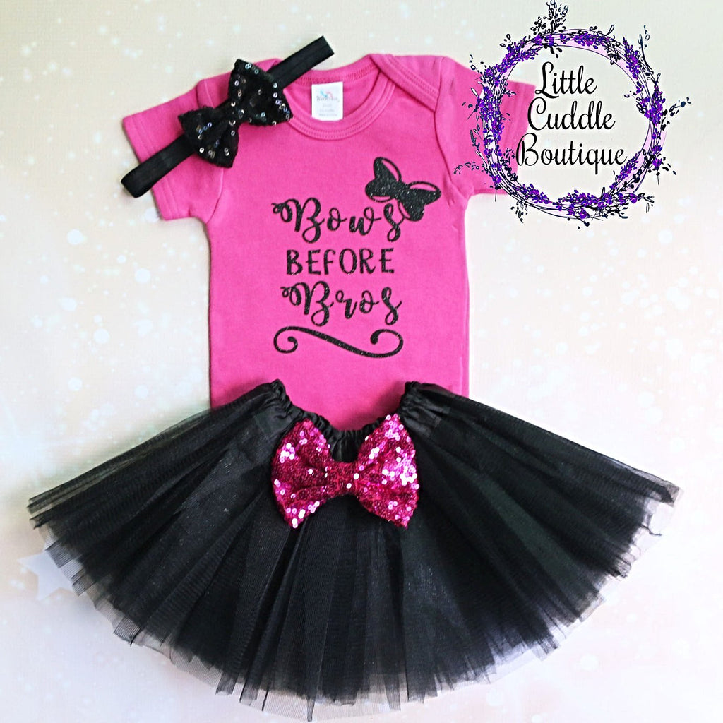 Bows Before Bros Tutu Outfit