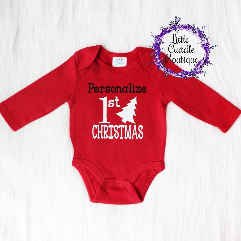 Personalized Christmas Red One Piece