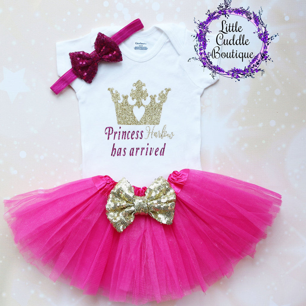 Personalized Princess Baby Tutu Outfit