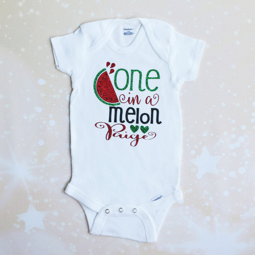 Personalized One in a Melon Tutu Outfit
