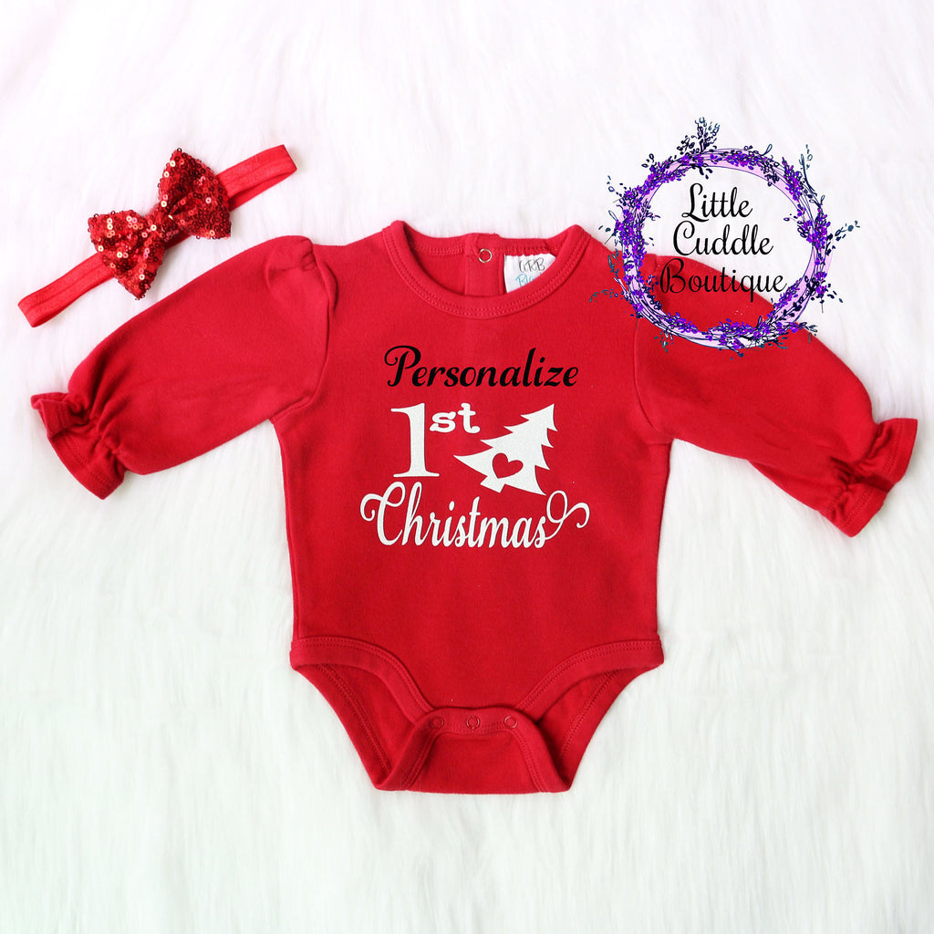 Personalized Christmas Girl's One Piece