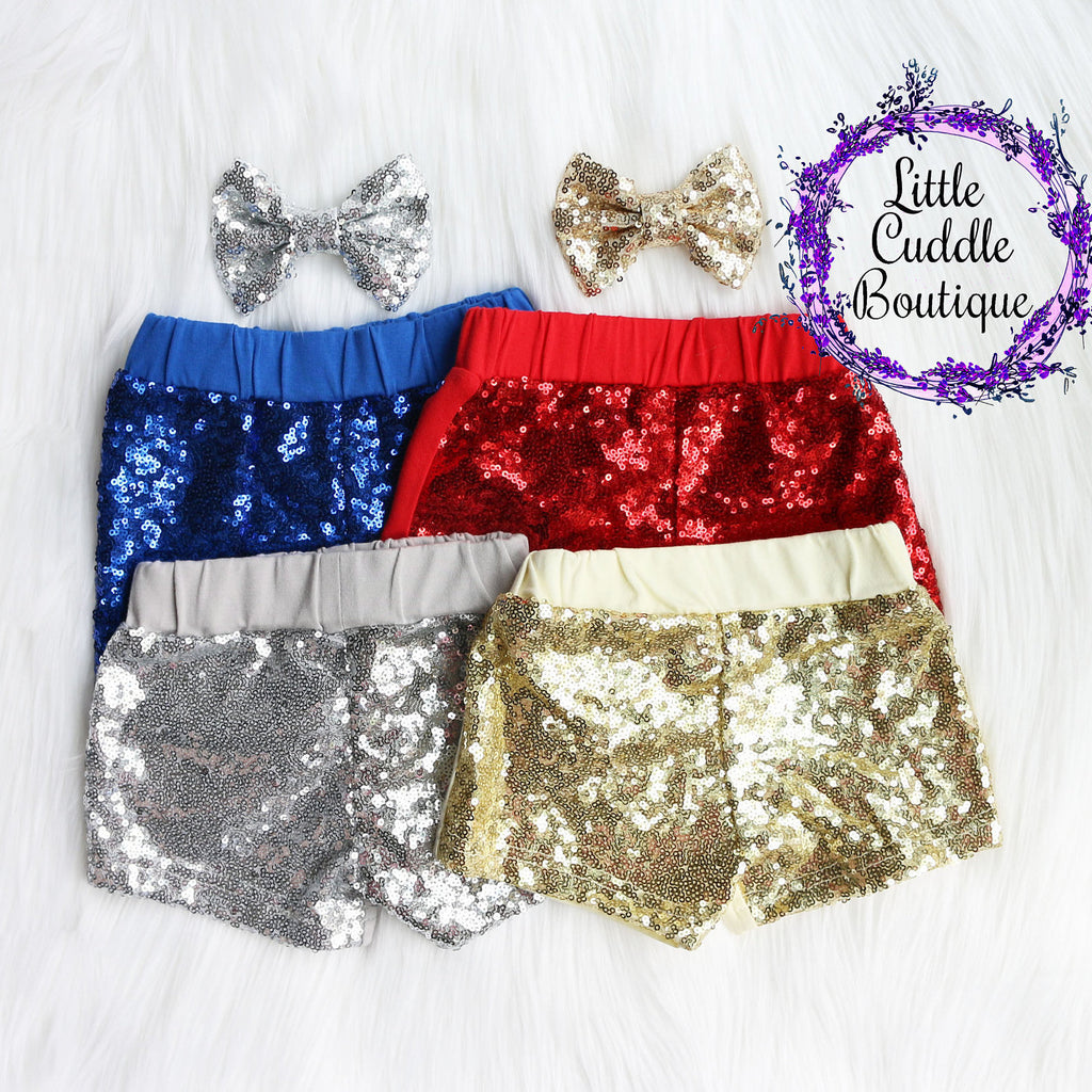 Christmas Baby Sequin Shorts