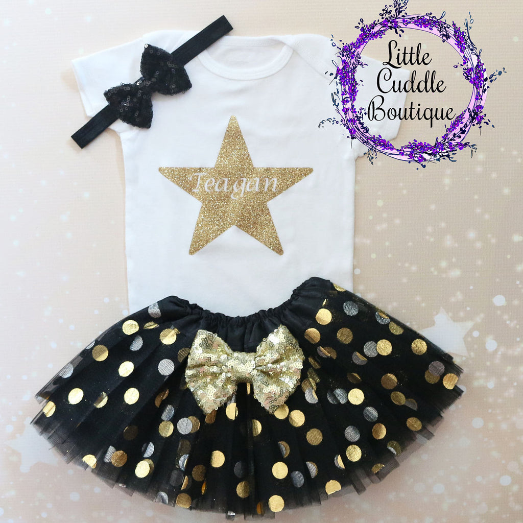 Personalized Star Baby Tutu Outfit
