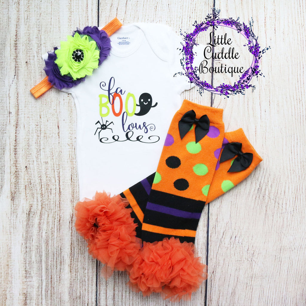 Fa-Boo-Lous Halloween Baby Outfit
