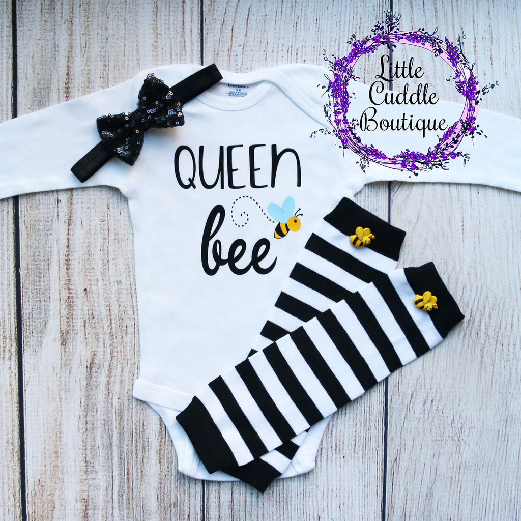 Queen Bee Baby Girl Outfit