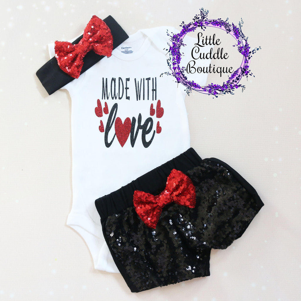 Made With Love Baby Shorts Outfit