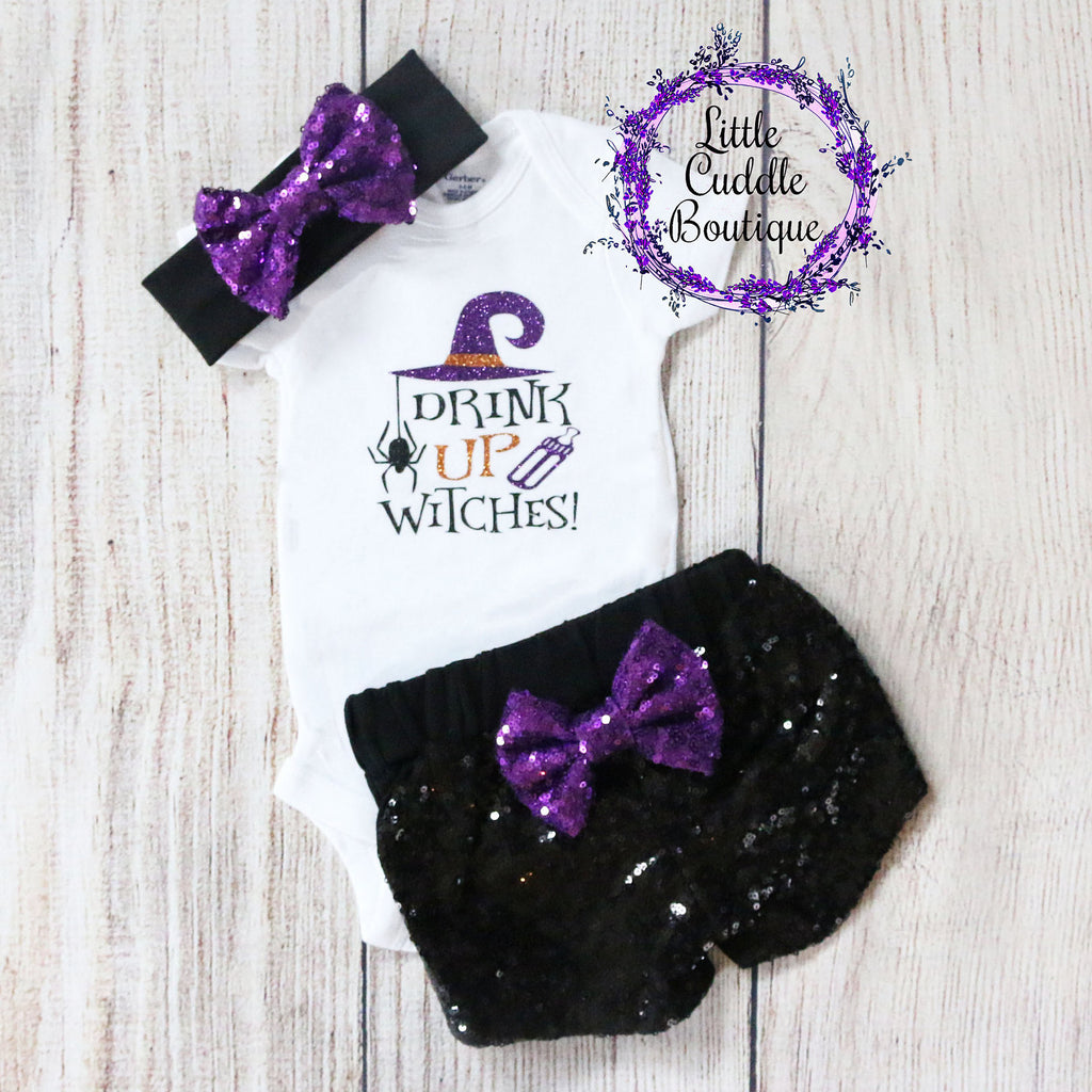 Drink Up Witches Baby Outfit